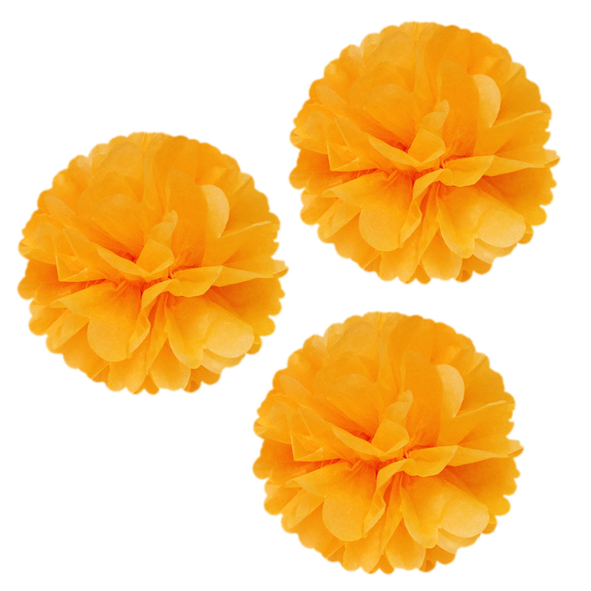 "Wrapables® 14"" Set of 3 Tissue Pom Poms Party Decorations for Weddings, Birthday Parties Baby Showers and Nursery Décor, Orange"