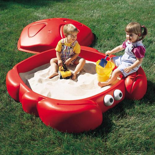Deals on Step2 Crabbie Sandbox Kids Plastic Outdoor Sandbox with Cover