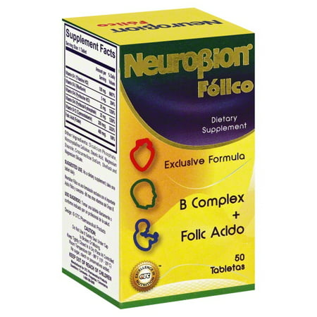 Neurobion Folico, 50 Tablets Vitamin B complex with Folic Acid Especially Formulated for