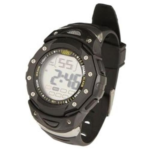 CampCo UZI-W-801 Digital Sport Watch - Black & Silver