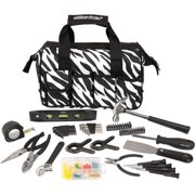 Essentials 53-Piece Around-The-House Tool Kit, Zebra