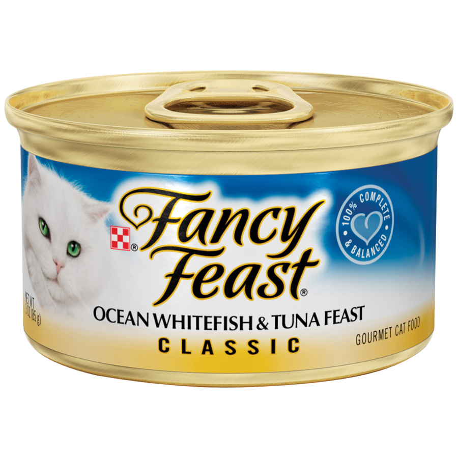 Purina Fancy Feast Classic Ocean Whitefish & Tuna Feast Cat Food 3 oz. Can
