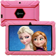Contixo 7 inch Kids Tablet 2GB RAM 32GB WiFi Android 10.0 Tablet For Kids Bluetooth Parental Control Pre-Installed Learning Tablet Apps for Toddlers Children Kid-Proof Protective Case, V9-2 Pink