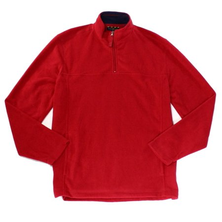 Club Room NEW Red Mens Size Medium M 1/2 Zip Solid Mock Neck Sweater