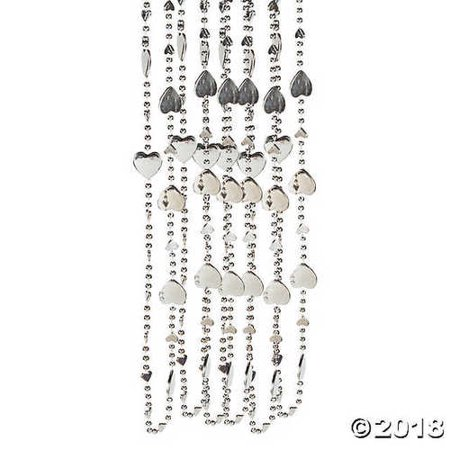 Silver Heart Bead Necklaces