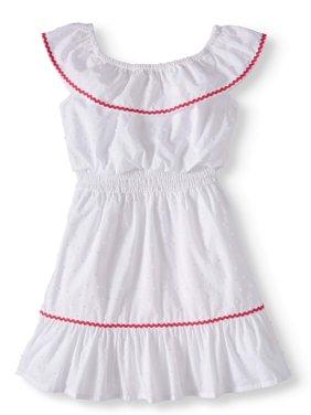 3fb4e4d9be0 Product Image Ruffle Neck Woven Dress (Toddler Girls)