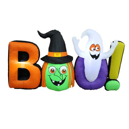The Holiday Aisle Halloween Inflatable Witch Ghost BOO