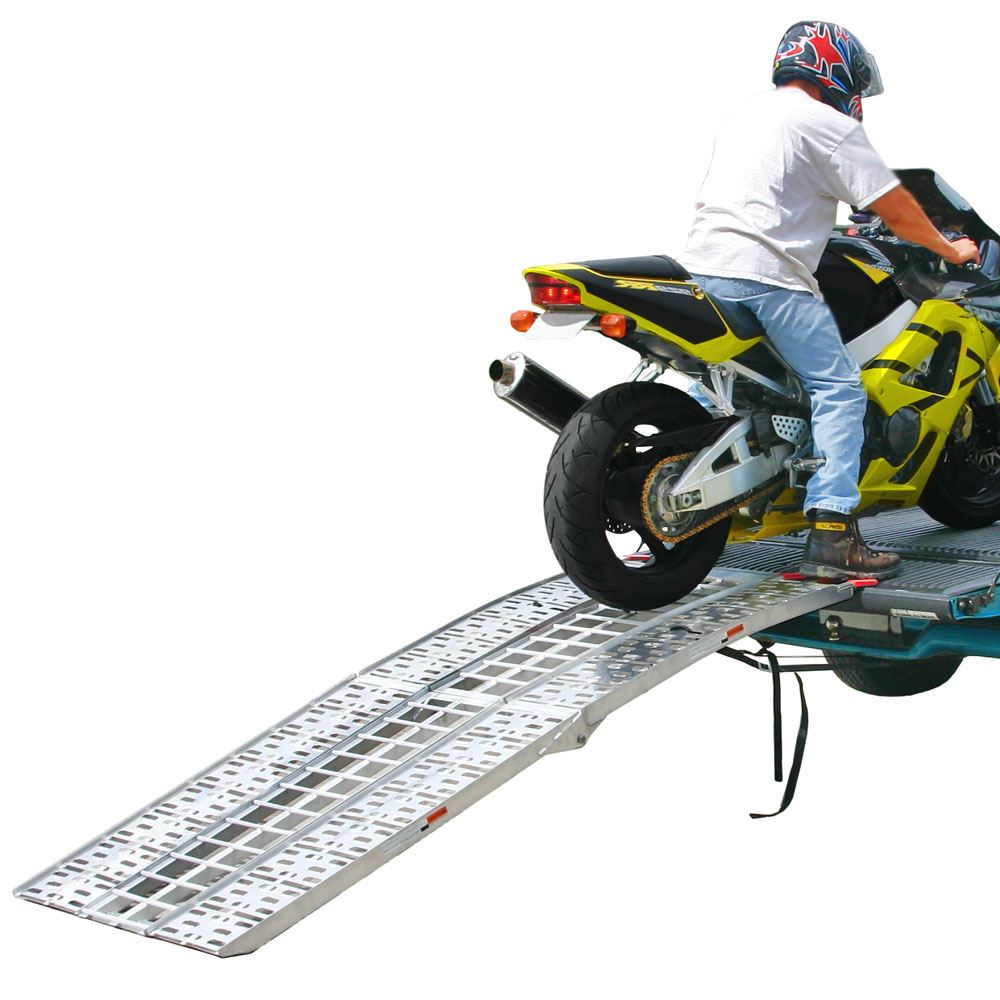 "89"" Arched Folding Motorcycle Ramp System"