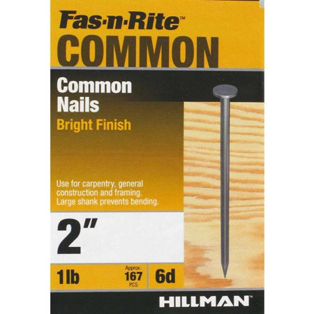 Ace Hardware Nails (The Hillman Group 2 in. 6D Common Nail (1 lb. box) )