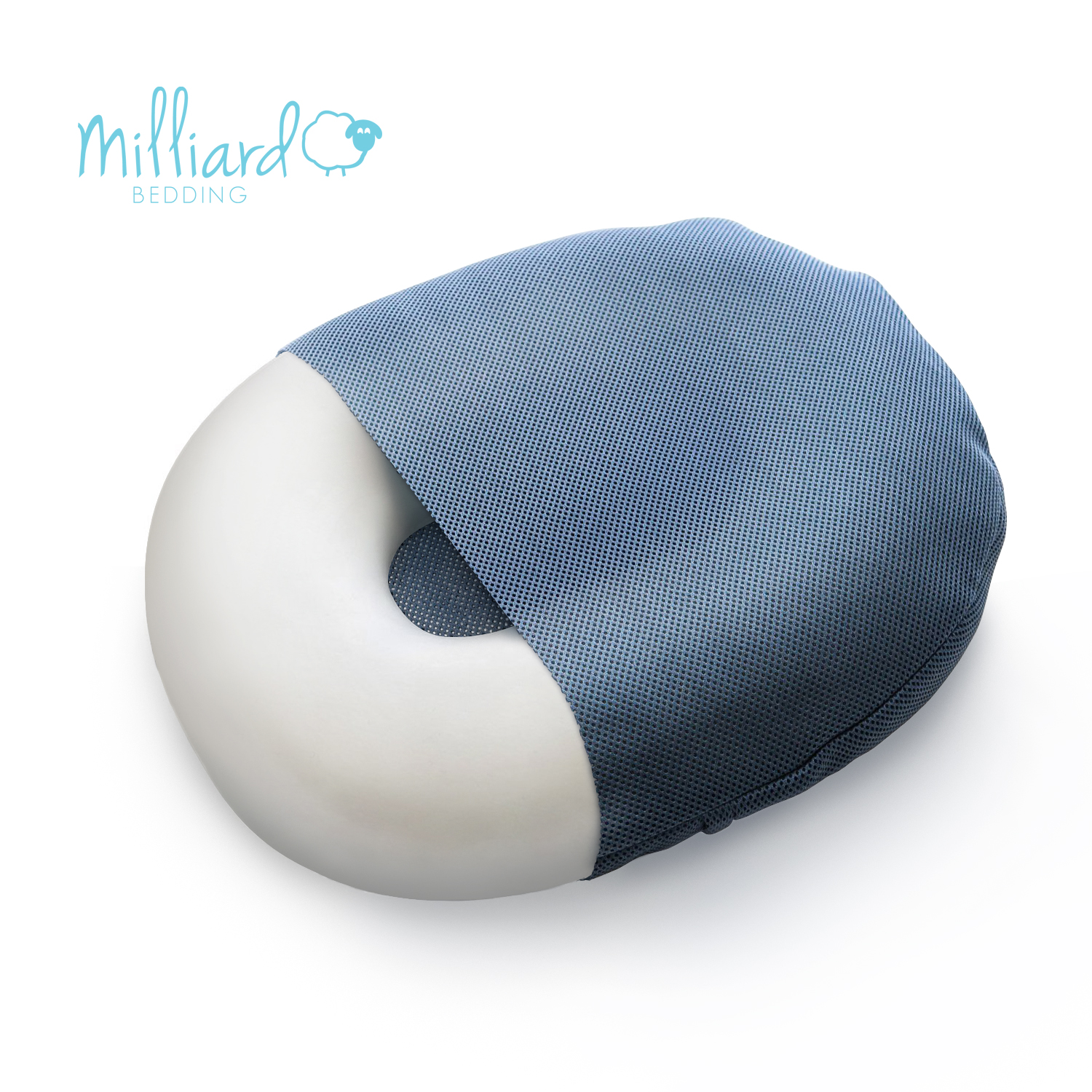 """Milliard Foam Donut Cushion Orthopedic Ring Pillow with Removable Cover, Large, 20x15"""" For Hemorrhoid, Coccyx, Sciatic Nerve, Pregnancy and Tailbone Pain"""