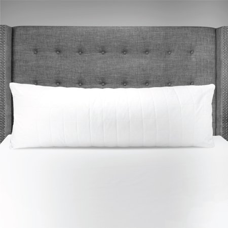 Mainstays Quilted Cotton Cover Body Pillow in White 20