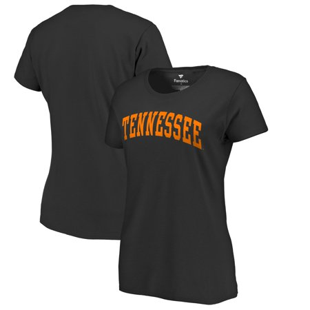 Tennessee Volunteers Black Leather (Tennessee Volunteers Fanatics Branded Women's Basic Arch T-Shirt - Black)