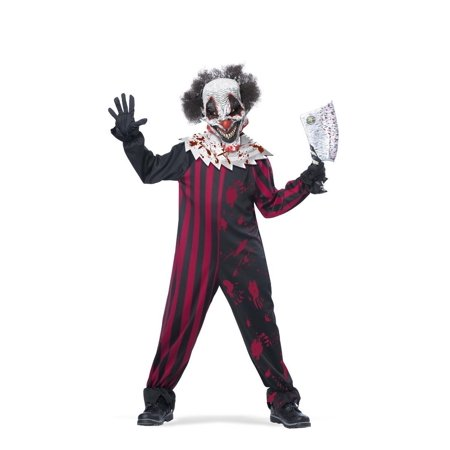 Killer Klown Child Costume, X-Large, Jumpsuit with and Velcro® closure By California Costumes