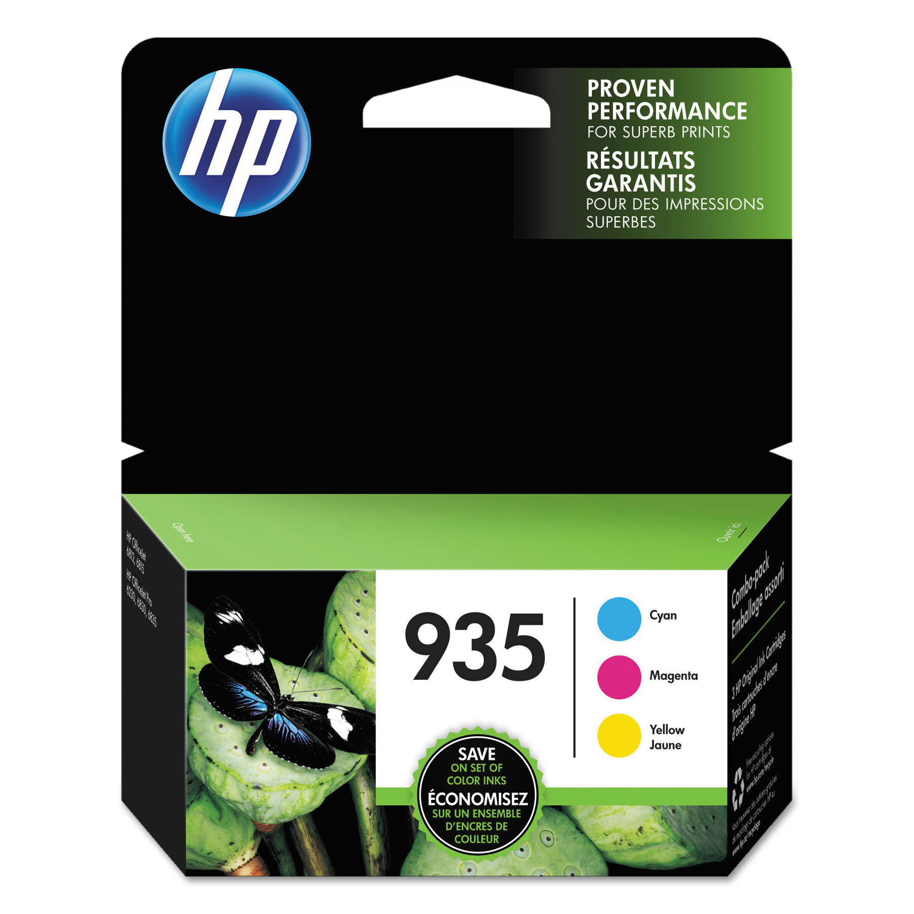 HP 935, (NH65FN) Cyan, Magenta, Yellow Original Ink Cartridge