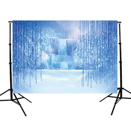 NK HOME Studio Photo Video Photography Backdrop 5x7ft Blue Ice Winter Scenic Printed Vinyl Fabric Party Decorations Background Screen Props](Winter Wonderland Photo Backdrop)