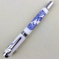 Luxury Jinhao 950 Fountain Pen Blue Dragon Totem Porcelain Pen with Medium Nib 18kgp