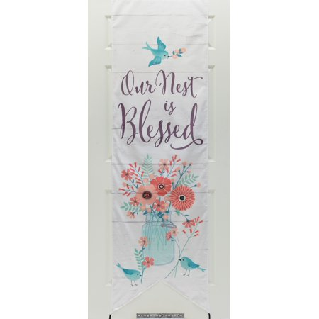 DaySpring  -  Our Nest Is Blessed - Decor the Door Banner - Door Banners