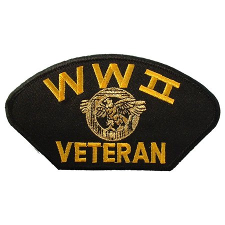 Wwii Hat Patch - WWII Veteran Hat Patch 2 3/4