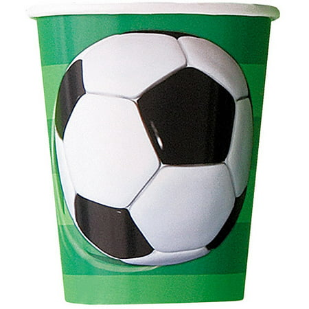 9oz Paper Soccer Party Cups, 8ct - Soccer Parties