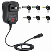 Dteck 12W Universal Charger AC/DC Adapter Switching Power Supply with 6 Selectable Adapter Plugs (can't work with Laptop)