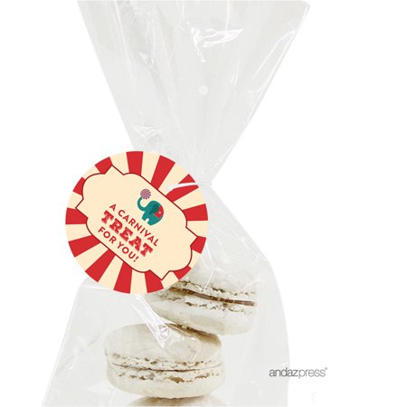 A Carnival Treat For You  Carnival Circus Birthday Round Circle Gift Tags, - Carnival Treats