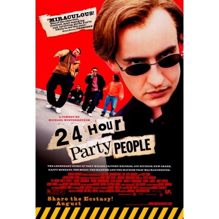 24 Hour Party People Movie Poster Print (27 x 40) - Party Movie