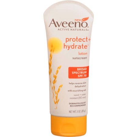 Aveeno Protect   Hydrate Lotion Sunscreen With Broad Spectrum Spf 70  Sun Protection  3 Oz
