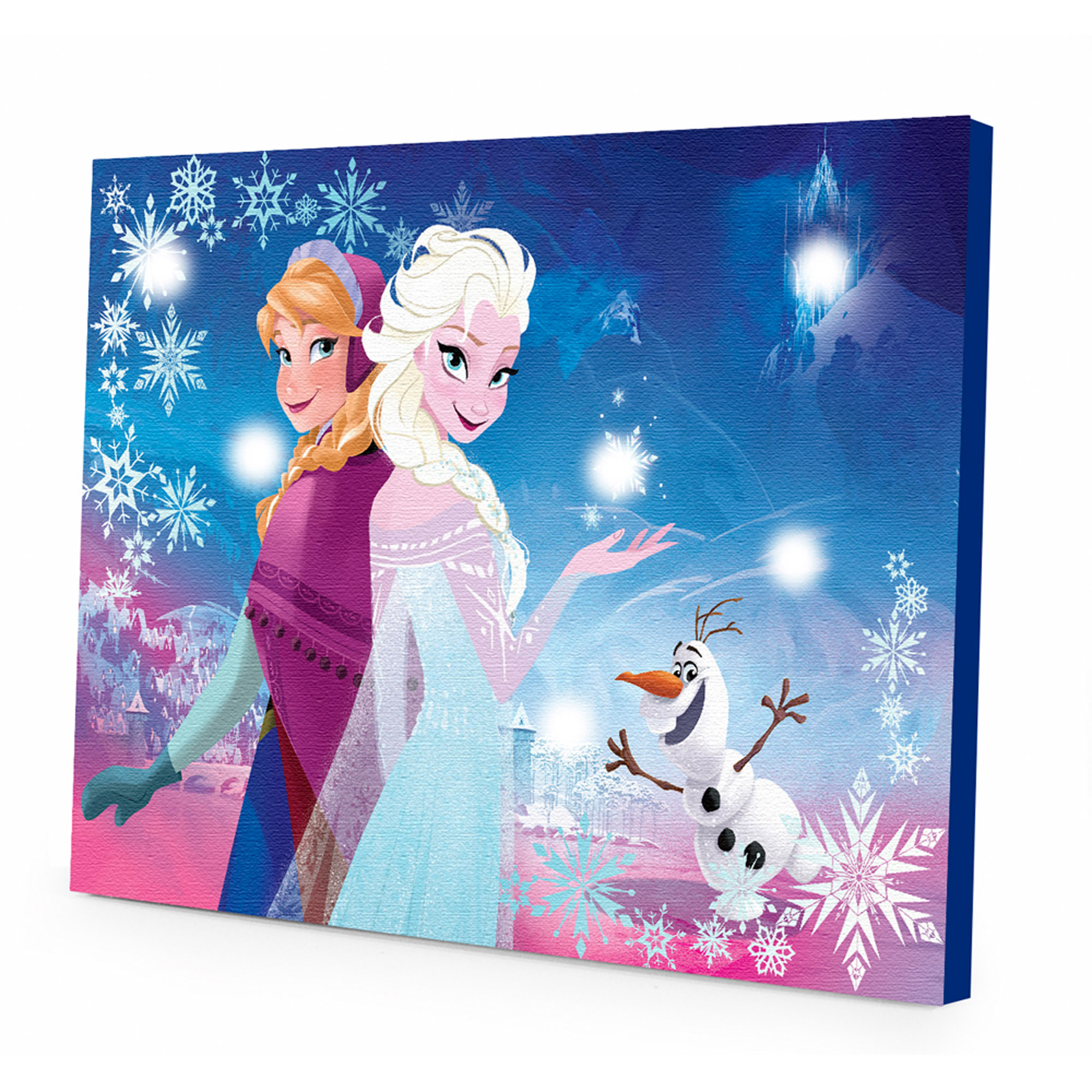 Light Up Wall Art disney frozen light up canvas wall art with bonus led lights
