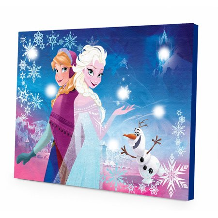 Disney Frozen Light up Canvas Wall Art with BONUS LED Lights