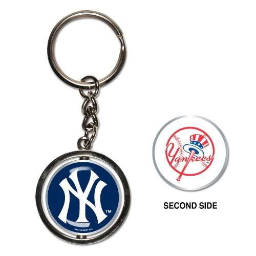 New York Yankees Spinner Key Ring - No Size