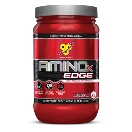 Bsn Amino X Edge Amino Acids   Bcaa Powder  Fruit Punch  28 Servings