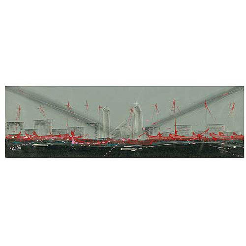 "Trademark Fine Art ""City Perspective II"" Canvas Art by Carlos, 14x47"
