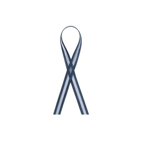 Organza Ribbon with Satin Edge: Navy Blue, 3/8 in x 25 yd