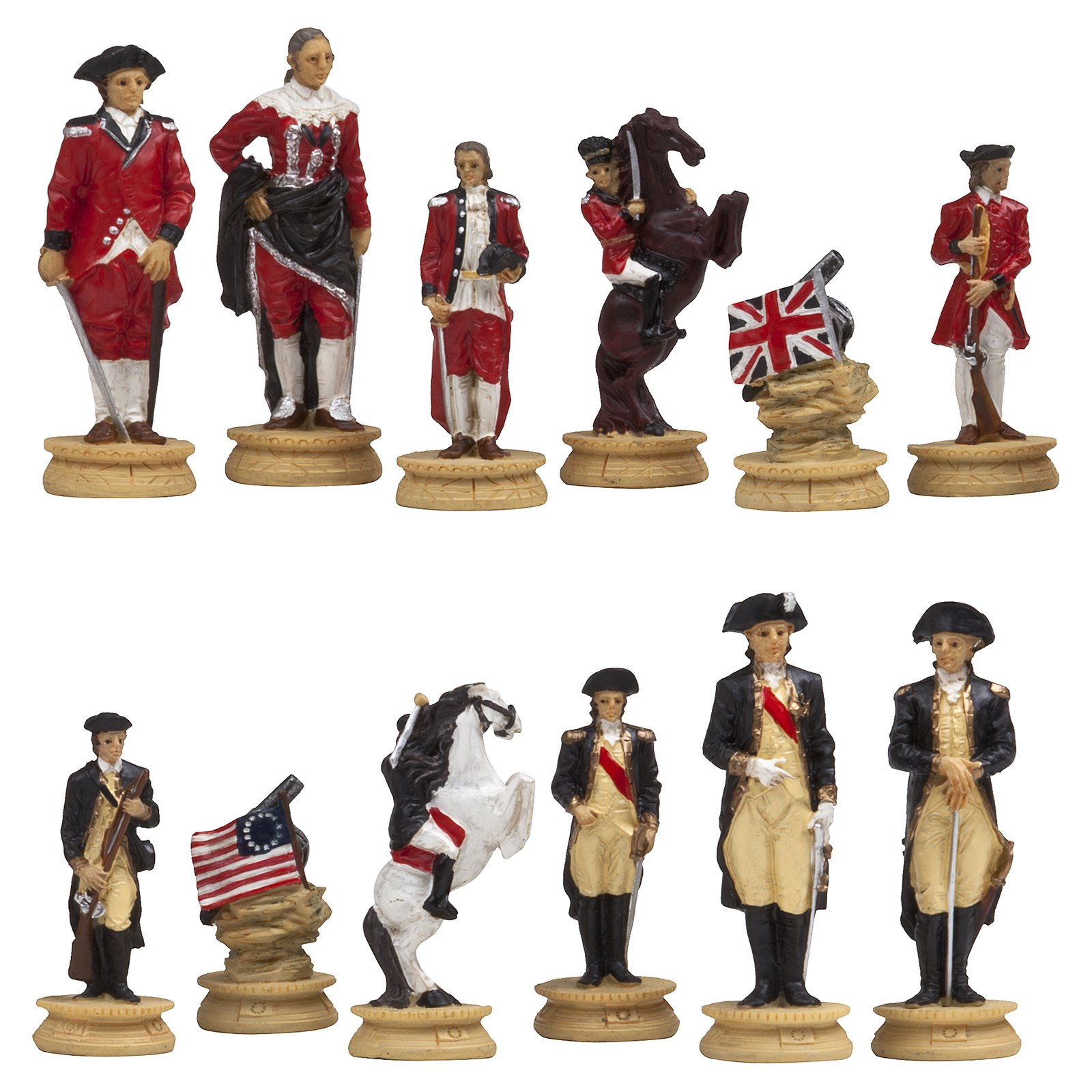 American War of Independence Chess Pieces