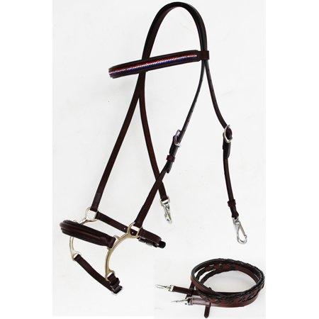 Weatherbeeta English Bridle (Horse English Leather Bridle Reins Tack Bling Black COB 803S39-C )