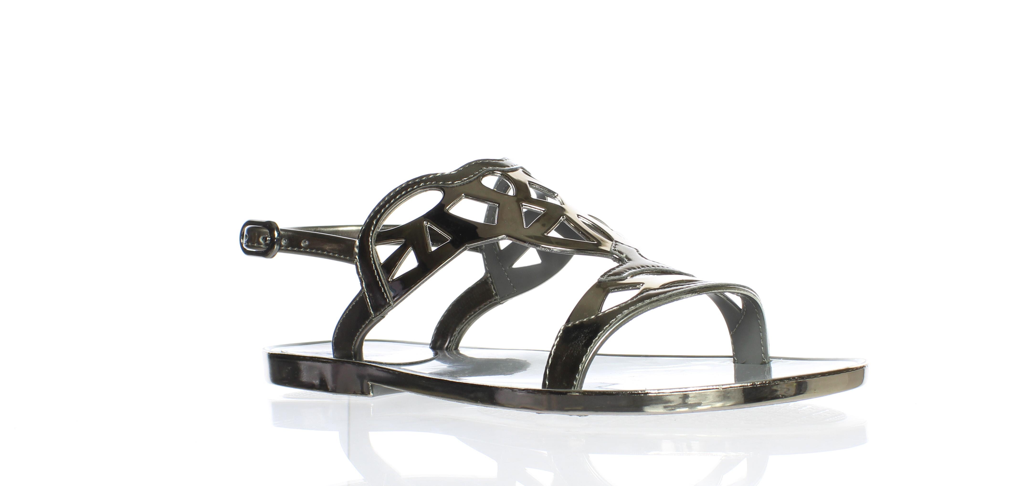 758df9b6dfb4 New Stuart Weitzman Womens Gelfisher Graphite Ankle Strap Flats Size 5