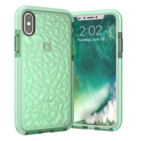 iPhone X Diamond Grain TPU Case - Green - image 1 of 1