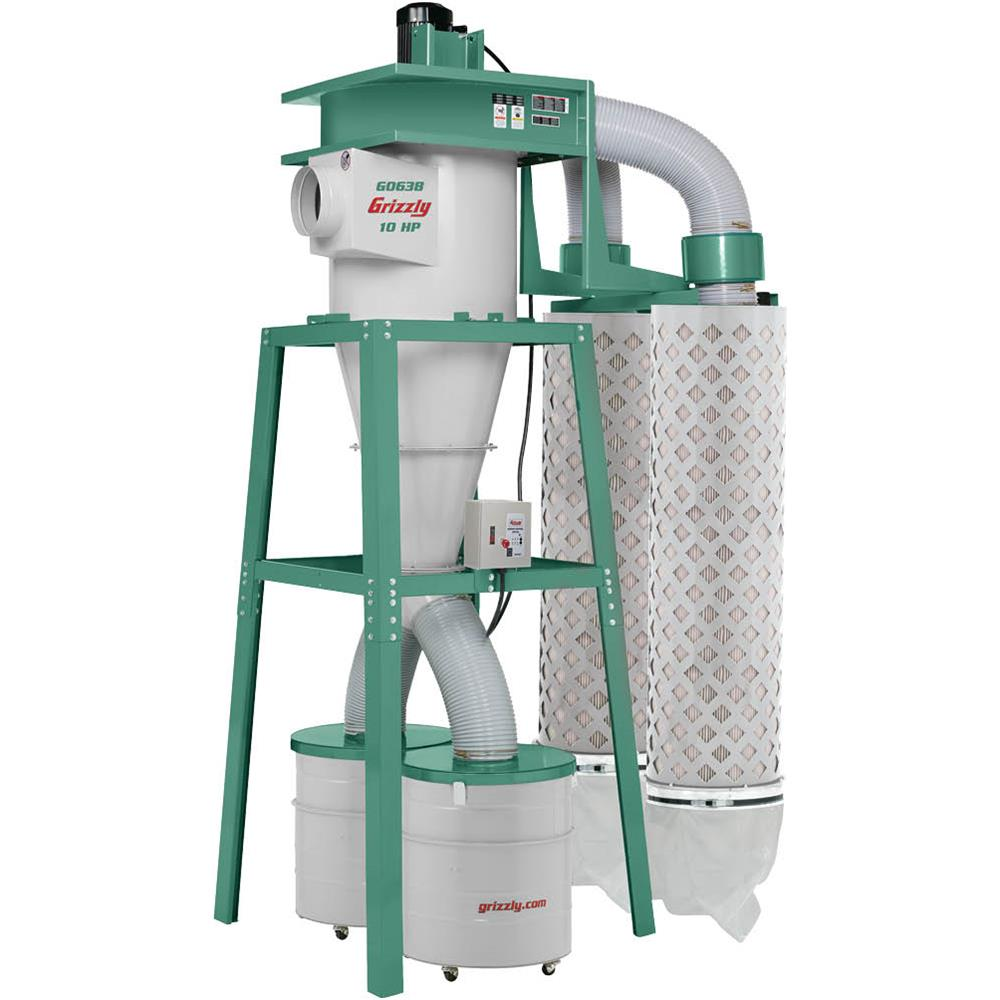 Grizzly G0638 10 HP 3-Phase Cyclone Dust Collector by Grizzly