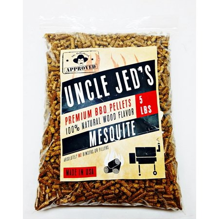 Mesquite BBQ Wood Pellets - Barbecue Grilling Pellets 5lb Bag, Wood Smoke Flavor