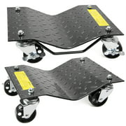XtremepowerUS 1 Pair Auto Dolly Car Dolly Wheel Tire 12