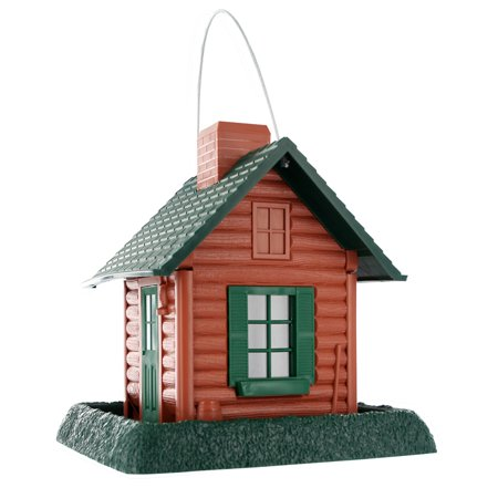 North State 8 Lb. Capacity Log Cabin Village Collection Bird Feeder (Log Cabin Bird Feeder)