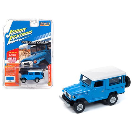 1980 Toyota Land Cruiser Light Blue w/White Top Limited Edition to 4,800 pieces 1/64 Diecast Car by Johnny Lightning