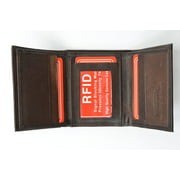 RFID Blocking Mens Trifold Leather Wallet RFID 1107 (C)