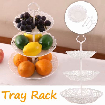 Three-Layer Cake Shelf Dried Fruit Pan Dessert Rack Round Wedding Party Tree Tower Acrylic Cupcake Display Stand