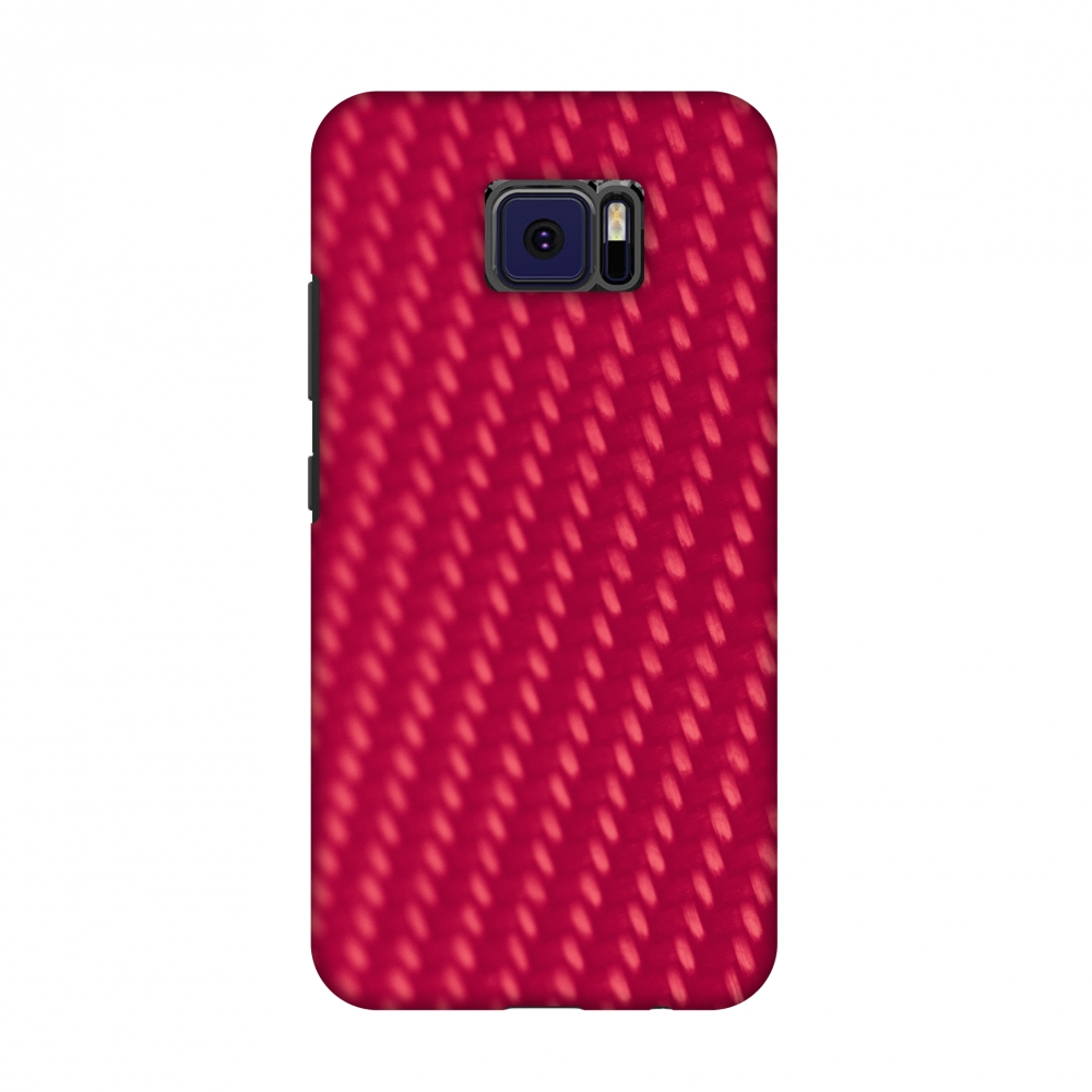 Asus ZenFone V V520KL Case - Carbon Fibre Redux Candy Red 13, Hard Plastic Back Cover, Slim Profile Cute Printed Designer Snap on Case with Screen Cleaning Kit