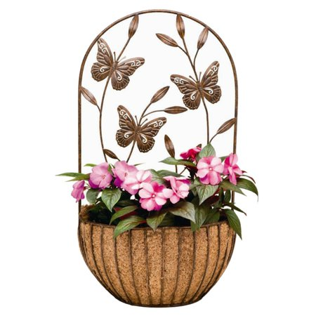 Deer Park Ironworks Butterfly Wall Planter with Coco Liner (Butterfly Liners)