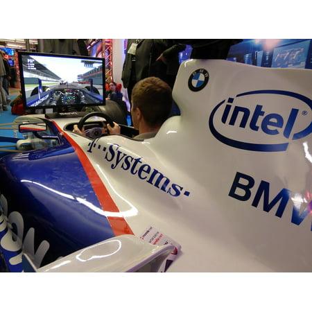 Canvas Print Simulator Formula Racing Steering Wheel Car Game Stretched Canvas 10 x (Best Formula 1 Simulator)