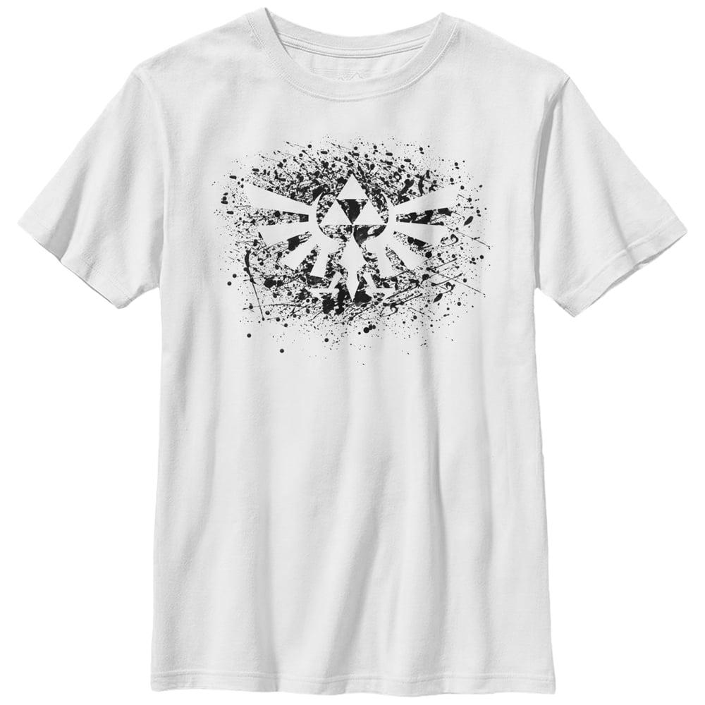 Nintendo Boys' Legend of Zelda Triforce Paint Splatter Print T-Shirt