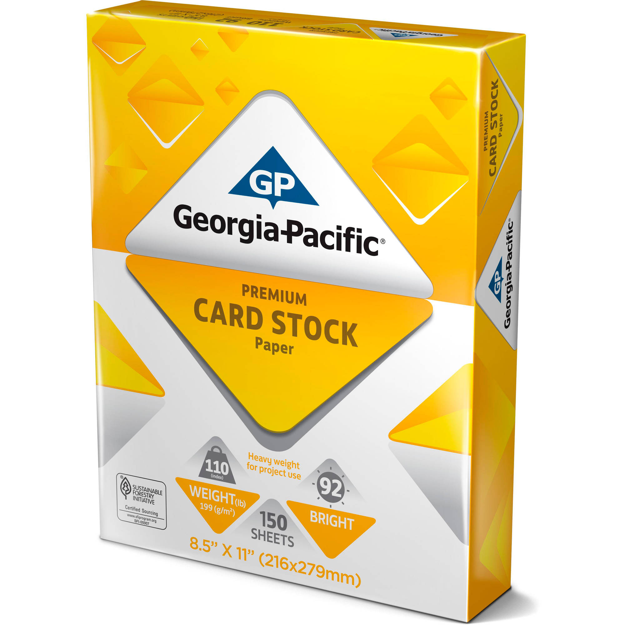 "Georgia-Pacific White Cardstock Paper, 8.5"" x 11"", 110 lb, 150 Sheets"