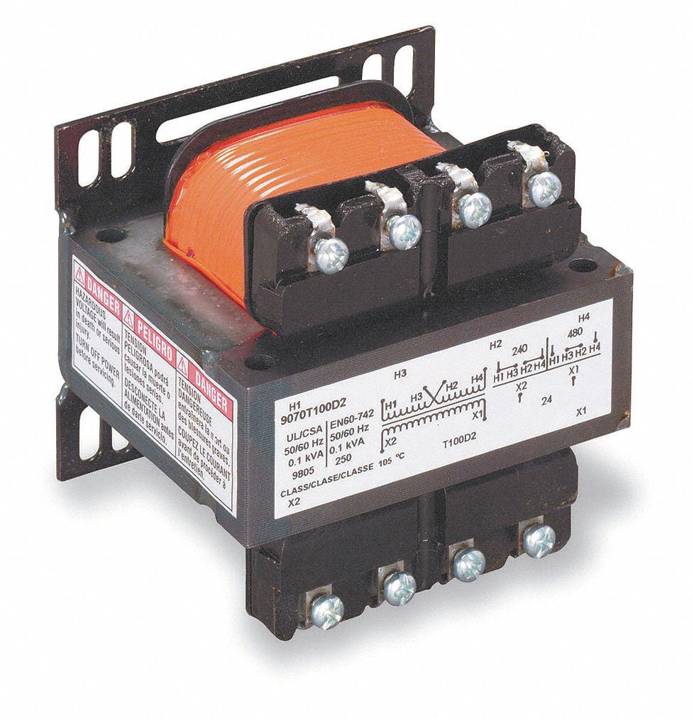 Control Transformer, Input Voltage: 120VAC, 240VAC, Output Voltage: 24VAC